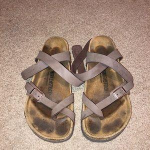 "Birkenstock mocha ""Yara"" sandal"